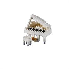 Instruments - Piano blanc - Niv. 2 - Polybag zip M