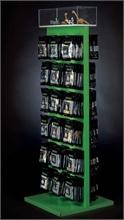 Présentoir 40x40x150cm (vitrine + 42 broches)