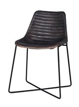 HC4 BXNB Chaise diner cuir Empire Gris -45x47x79 TPS30_4%#