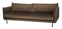Canapé Tarente 3 places velours Marron 230x95x86cm TPS150_1