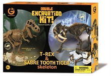 Kit Excavation duo - trex 34cm & tigre dents de sabre 23cm