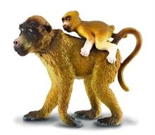 A. sauvages - Maman babouin avec son bébé - L