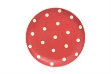 HC4 DSH Assiette plate Gros Pois Rouge - 27cm #