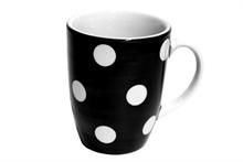 Grand mug Gros Pois Noir - 30cl