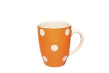 Grand mug Gros Pois Orange - 30cl