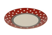Assiette dessert Bols and Co Pois Rouge  - 22cm