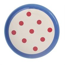 HC4 DSH Assiette dessert Reverso Rouge int. bleu gitane  - 22cm #
