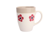 HC4 DSH Grand Mug Flore Rouge int. Ficelle - 30cl #