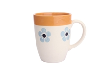 HC4 DSH Grand Mug Flore Bleu Glacier int. orange - 30cl #