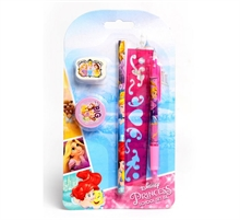 Set de 5 pcs de papeterie Princesses Disney