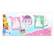 Set 3 cadres foil-art + glitter Princesses Disney