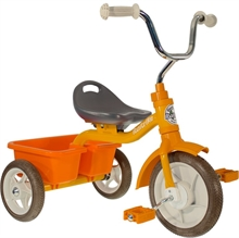 ''10'' Tricycle Transporter Road Work - Orange - 2/5 ans''