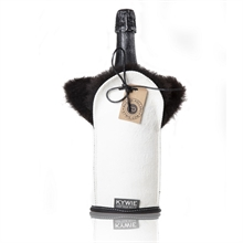 Etui isotherme à Champagne - Daim - Blanc