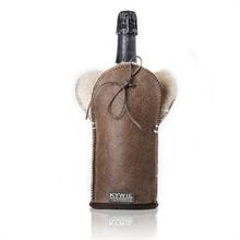 Etui isotherme à Champagne - Cuir - Marron