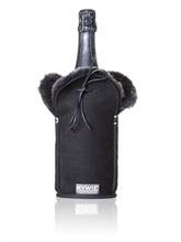 Etui isotherme à Champagne - Daim - Noir