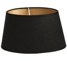 Abat jour Raffia Noir - 25x25x14cm