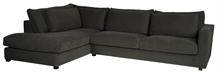 Canapé lounge Napels Lin et coton, angle gauche gris - 327x92x226cm
