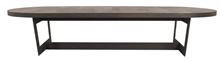 Table basse Nevada plateau cuir vieilli - 190x65x38cm