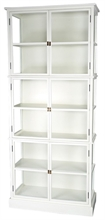 LSB Armoire bibliothèque Gaspard blanc - 90x40cmx210cm TPS120_2%