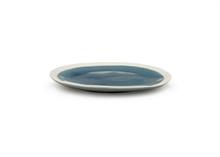 HC5 VTW Assiette plate bleue finition craquelé 25.5cm#