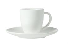 HC5 VTW Basic Tasse et sous-tasse à café blanc ivoire 10cl #