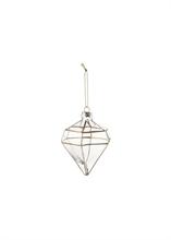 Décoration verre forme diamant