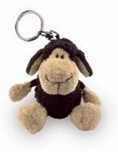 Porte-clés Mouton Noir 10cm
