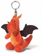 Porte-clés Dragon Rouge/Noir 10cm