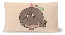 HC2 WF16 Coussin rectangulaire Hippopotame 43x25cm - #