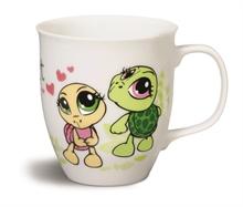 HC5 SH16 Mug Tortues en porcelaine ø9,5x10cm #