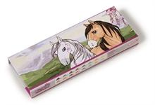 HC3 SM16 Boîte à crayons de couleurs Cheval 8 crayons/16 couleurs en disp #
