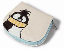 HC7 WI15 Portefeuille peluche Pingouin 13x11 cm #