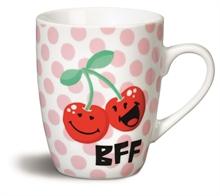 HC5 Smiley - Mug Cerise en porcelaine 8x10 cm #