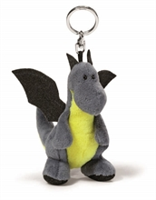 HC3 CR16 Porte-clés Dragon anthracite/vert-neon 10cm #