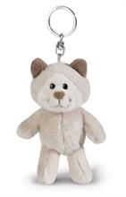 WI17 Porte-clés Chat des neiges gris 10cm #