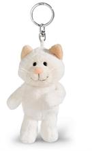 WI17 Porte-clés Chat des neiges blanc 10cm #