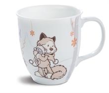 WI17 Mug chat des neiges gris 9,5x10cm en porcelaine #