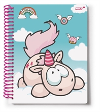 HC3 TH18 Notebook Spiral Theodor A4 80 pages en display.