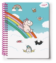 HC3 TH18 Notebook Spiral Theodor A5 80 pages en display.