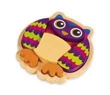 Happy Puzzle - Hibou - Puzzle à encastrer 9 pcs