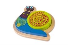 Happy Puzzle - Escargot - Puzzle à encastrer 9 pcs