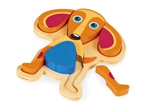 Happy Puzzle - Chien - Puzzle à encastrer 9 pcs