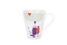 HC3 PG Grand mug illustré Le Lâcher de ballons Taupe  - 30cl