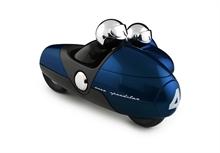Side Car Enzo - Bleu Nuit - Métallisé - L.26,5 cm - %