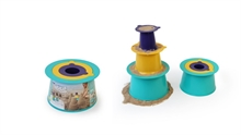Alto -  Set de construction : donjon - Vert/Violet/Jaune - %
