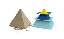 Pira - Set de construction : pyramide - Bleu pastel/Bleu/Jaune - %