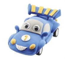 Crée ta voiture retrofriction bleue en pâte autodurcissante