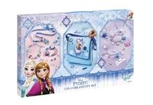 Reine des neiges - 3 en 1 Set créatif (Bijoux, Sac besace et charms)