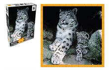 WWF 100 pieces puzzle - Léopard des neiges