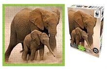 WWF 100 pieces puzzle - Eléphanteaux